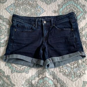 Midi denim shorts